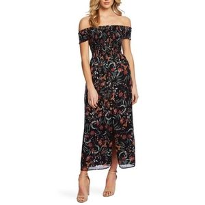 NWT Cece smocked off the shoulder midi dress